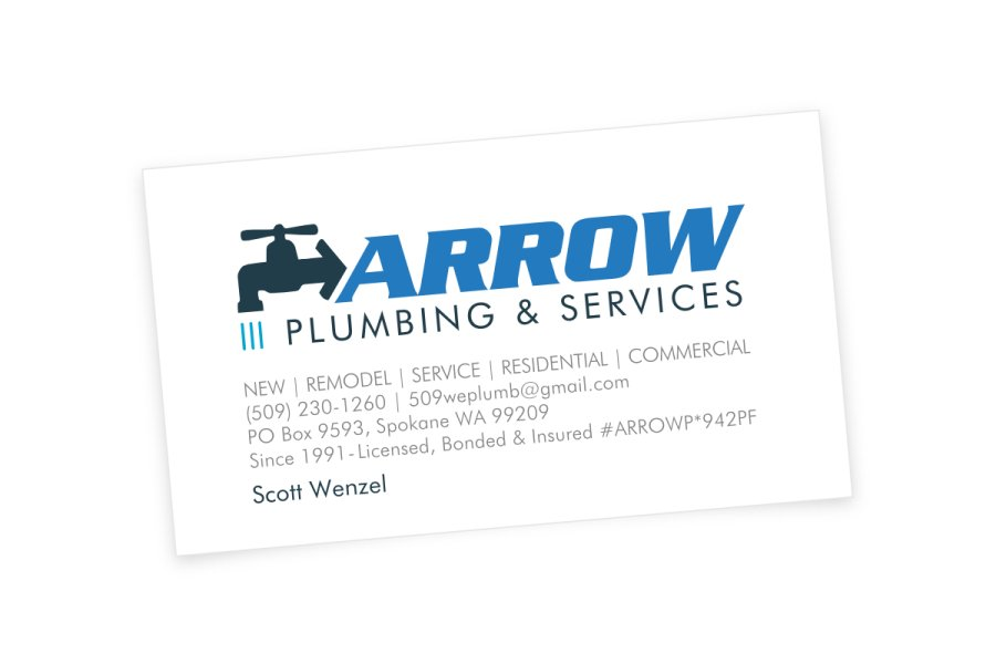Arrow Plumbing Business Cards   Simplimation: Your Business ...