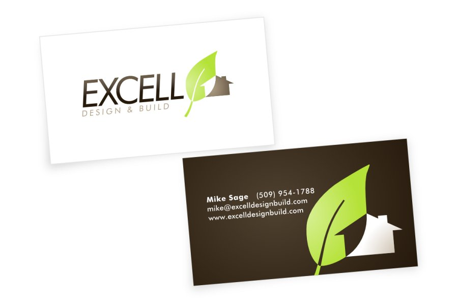 Excell Design & Build Business Cards | Simplimation: Your Business ...