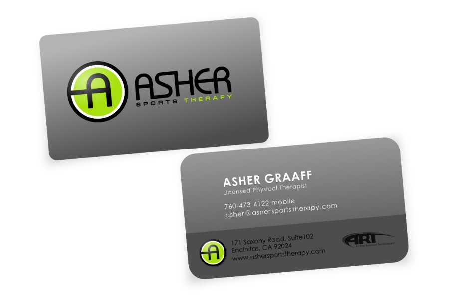 Asher sports therapy business cards simplimation your business asher sports therapy business cards colourmoves Gallery